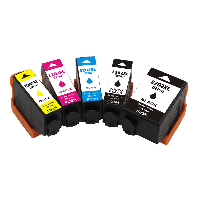 5 pcs <font><b>202XL</b></font> T202XL 202 XP 6000 6001 6005 Ink Cartridge For <font><b>Epson</b></font> Expression premium XP-6000 XP-6005 XP-6001 Printer image