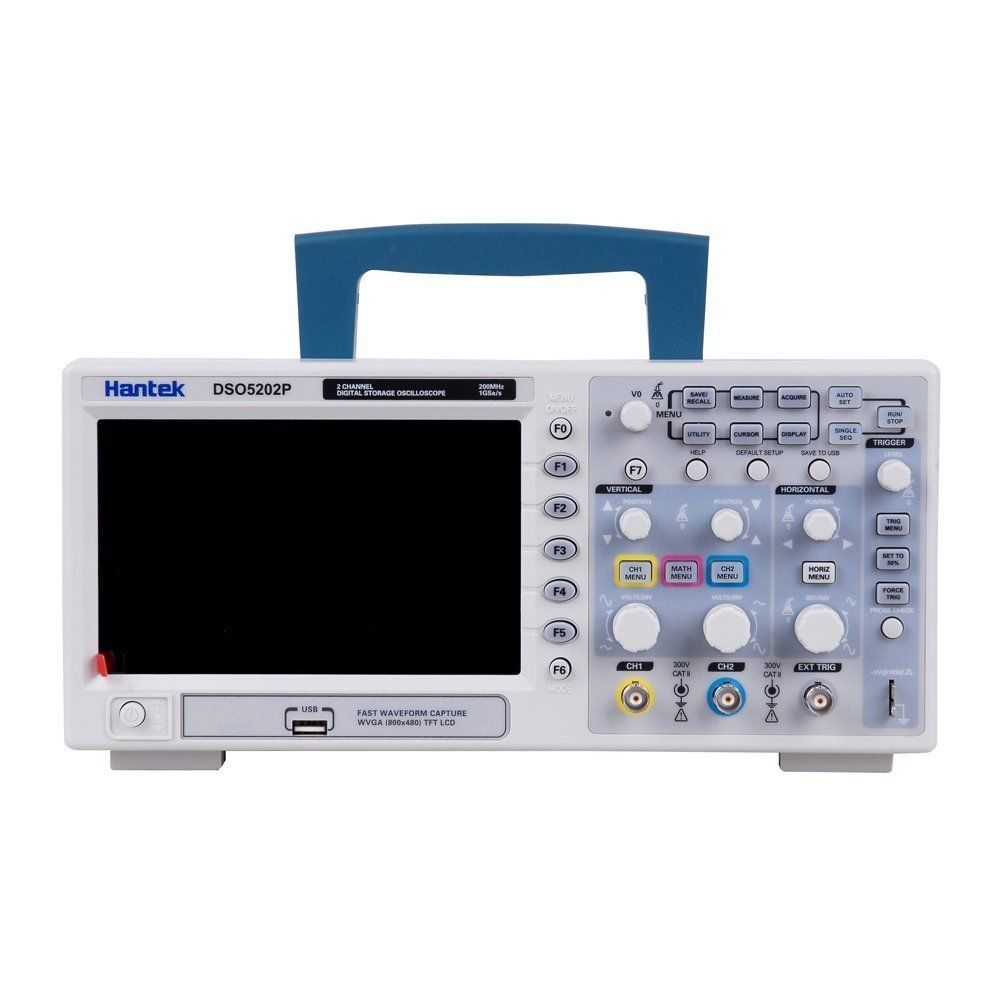 Hantek DSO5202P Digital Storage Oscilloscope 200MHz 2 Channels 1GSa/s Sample Rate 40K Record Length USB PC Oscilloscope RU store hantek dso5072p digital storage oscilloscope 70mhz 2 channels 1gsa s record length 40k usb 2ch