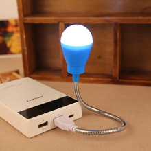 USB LED Night light Mini notebook Nightlight Desk Reading lamp Powerbank For PC Mobile Power Telescopic luminaria Computer P20