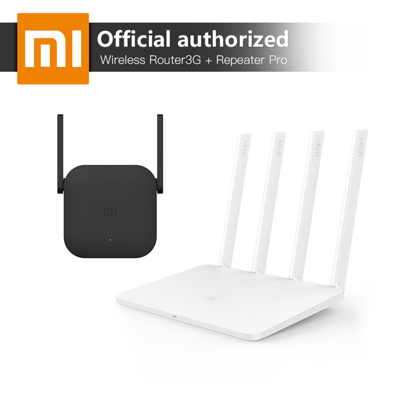 Xiaomi WiFi Wireless Router Repeater Set 3G 1167Mbps 128MB Nand Flash ROM 256MB Memory Router And Wireless WiFi Repeater Pro xiaomi mi wifi wireless router 3g 2 4g 5ghz dual 128mb band flash rom 256mb memory and xiaomi wifi repeater 1 amplifier extender