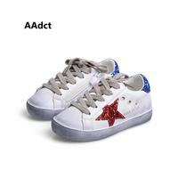 AAdct 2017 Autumn Star Fashion Kids Shoes Brand High Quality Girls Shoes New Old Retro Running