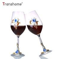 Transhome Men Glass Cup 450 ml Màu Pha Lê Red Wine Glass bộ dụng cụ Tuba Rượu Cốc Thủy Tinh Vợ Chồng Mới Cưới Phù Hợp Với Món Quà Whiskey Mugs