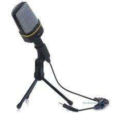 Mesuvida Micrófono Dinámico Unidireccional Condensador Sonido Clásico de Moda de Buena Calidad con el Sostenedor Del Soporte para MSN Skype