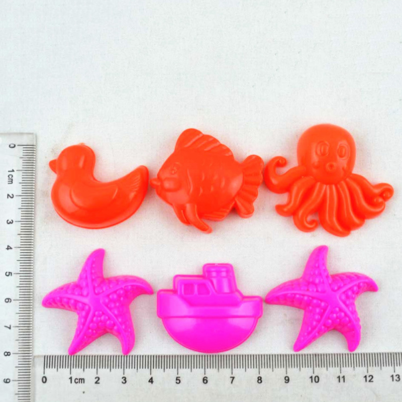 15cm 11 Pieces Set Small Beach Toys Summer Play Children Dredging Shovel Sand Mold Kid Baby Outdoor Games Play House Toy Car G38 5