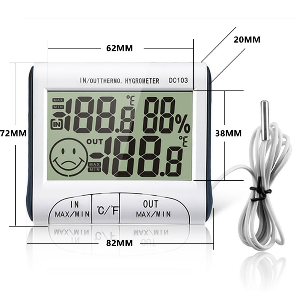Top Weather Station Household Indoor and Outdoor Use Temperature Humidity Meter Temperature Display Thermometer Hygrometer china post free shipping 1 piece heidelberg sm102 sensor 61 198 1563 06 61 198 1563