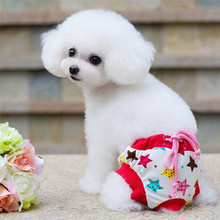 S-L Red Star Female Dog Physical Pant Washable Pet Underwear Sanitary Pants Elastic Diaper for Small Dog Wholesale noNV10