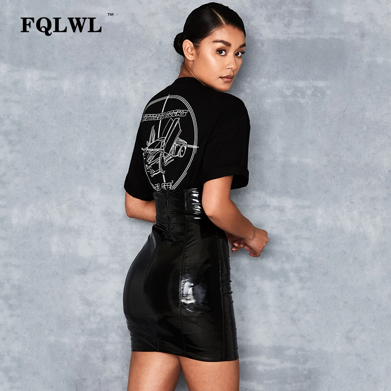 HTB1WU5dXzDuK1Rjy1zjq6zraFXay - FQLWL Faxu Latex Pu Leather Skirt For Woman Zipper Black/High Waisted/Pencil Skirts Womens Autumn Wrap Sexy Mini Skirt Female