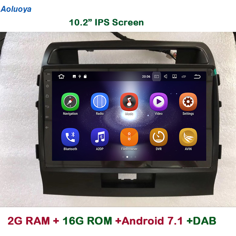 Aoluoya 10.2 IPS 2 gb RAM Quad Core Android 7.1 LECTEUR DVD de VOITURE Pour Toyota Land Cruiser 200 LC200 2008-2015 Radio GPS Navigation