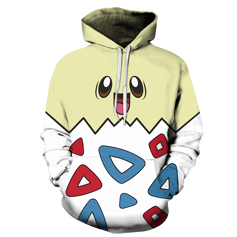 3D couple hoodies pokemon go cosplay pokeball pikachu costume kids sweatshirt oversized jacket men plus size women clothing tops