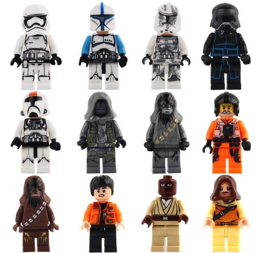 2016 <font><b>Newest</b></font> <font><b>Star</b></font> <font><b>Wars</b></font> 7 Minifigures <font><b>The</b></font> <font><b>Force</b></font> <font><b>Awakens</b></font> Kylo Ren BB8 Building Blocks Starwars Set Models Figure Toys For Children