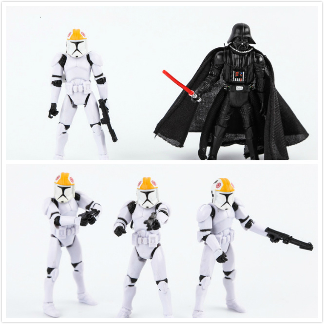 Hot STAR WARS Action Figure Darth Vader Stormtrooper Anime Home Car Room Decor Kids Birthday Christmas toys for children Figures
