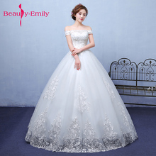 Beauty Emily Exquisite Korean bride Ball Gown Quality embroidery organza andtulle Wedding Dresses 2018 Customized wedding dress