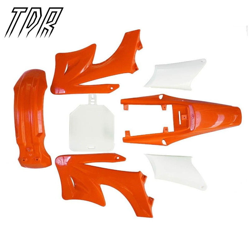 ФОТО TDR Motorcycle Parts Plastic Kit for Apollo Orion 125cc 150cc 150cc Ghost Fenders Guard Motors Cover Fairings Orange + White HHY