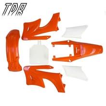 TDR Запчасти Для Мотоцикла, Пластиковые Комплект для Apollo Orion 125cc 150cc 150cc Призрак Крылья Гвардии Двигатели Крышку Обтекатели Orange + Белый HHY