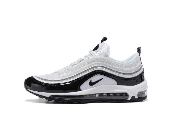 Officielles nouveauté Nike Air Max 97 OG de QS 1697 Hommes chaussures de course D'origine Respirant Extérieur chaussures de sport Airmax 97 Hommes