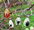 Бесплатная доставка 12 шт. природный скорпион паук акриловой смолы подарок на день рождения украшение декор брелок насекомых ювелирный таксидермии подарок