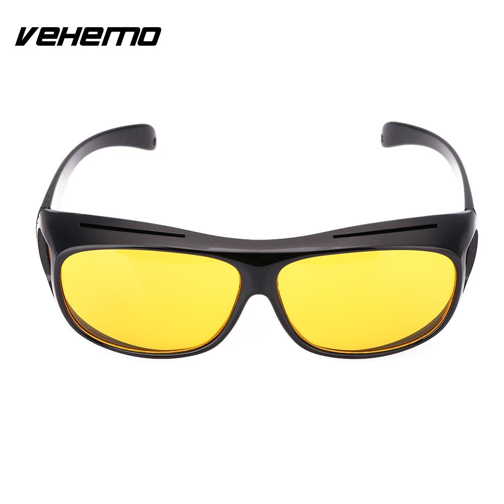 Vehemo Unisex HD Yellow Lenses Sunglasses Men Women Sunglasses Night Vision Goggles Car Driving Driver Glasses Eyewear UV 400 stylish two color match lenses hipsters sunglasses for unisex aviator