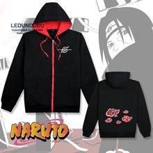 Горячие Костюмы Naruto Cosplay Акацуки Итачи Красное Облако Кофты Толстовки С Капюшоном Куртки Мужские Пальто с длинным рукавом и с коротким рукавом