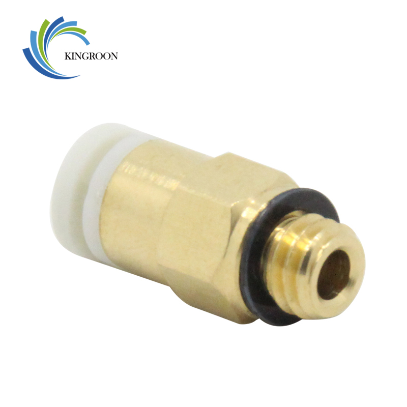 10pcs Pneumatic Fittings Connector Straight Air M6 Part For V6 Bowden Extruder 3D Printers Parts Copper 4*2mm Filament PTFE Tube
