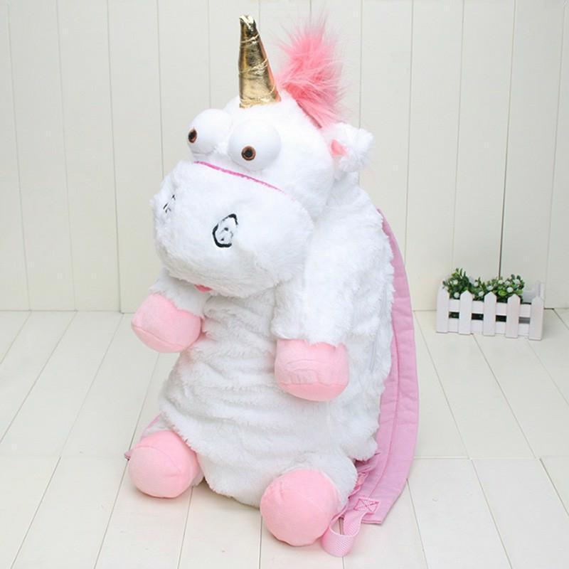 60cm peluche licorne enfants cheval sac à dos Sof enfants cartable blanc rose