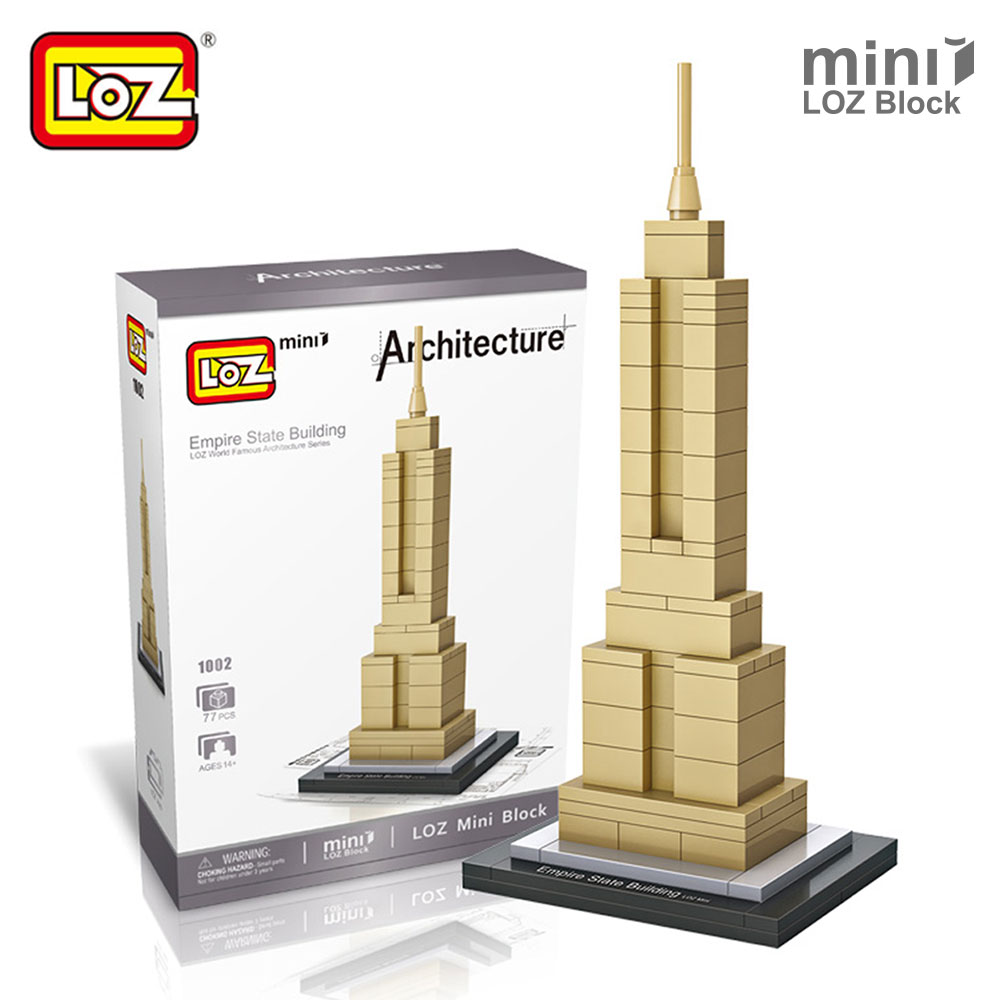 LOZ Empire State Building Mini Block World Famous Architecture Series City Building Blocks Classic Toy Forge World Tower Bricks series s 3d puzzle paper diy papercraft double decker bus eiffel tower titanic tower bridge empire state building