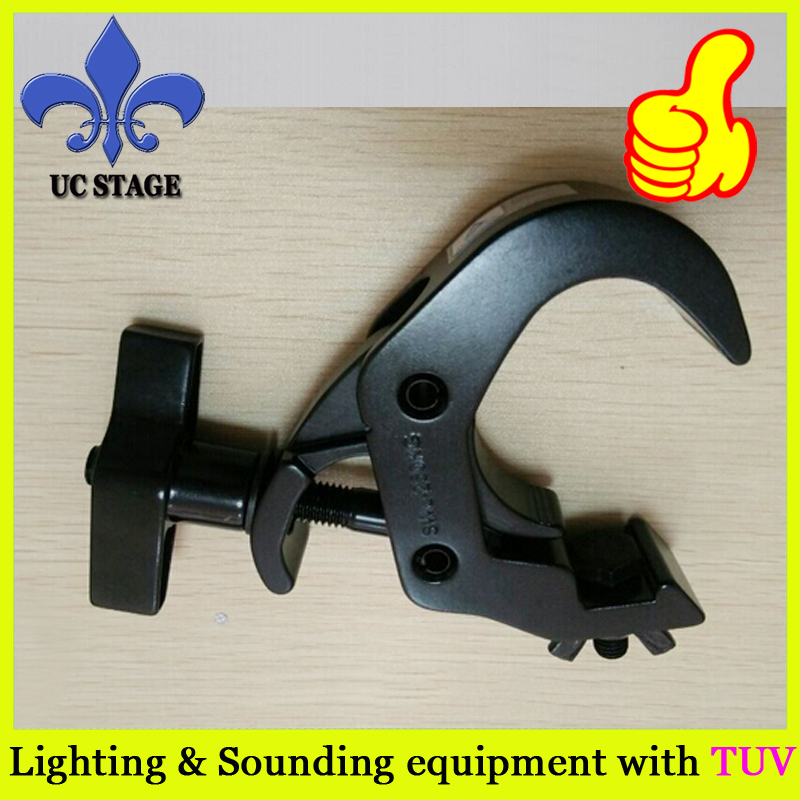 250KG HEAVY DUTY BEAM LIGHT CLAMP BLACK SHOWTEC 50MM QUICK COUPLER FOR LIGHT TRUSSING STANDS
