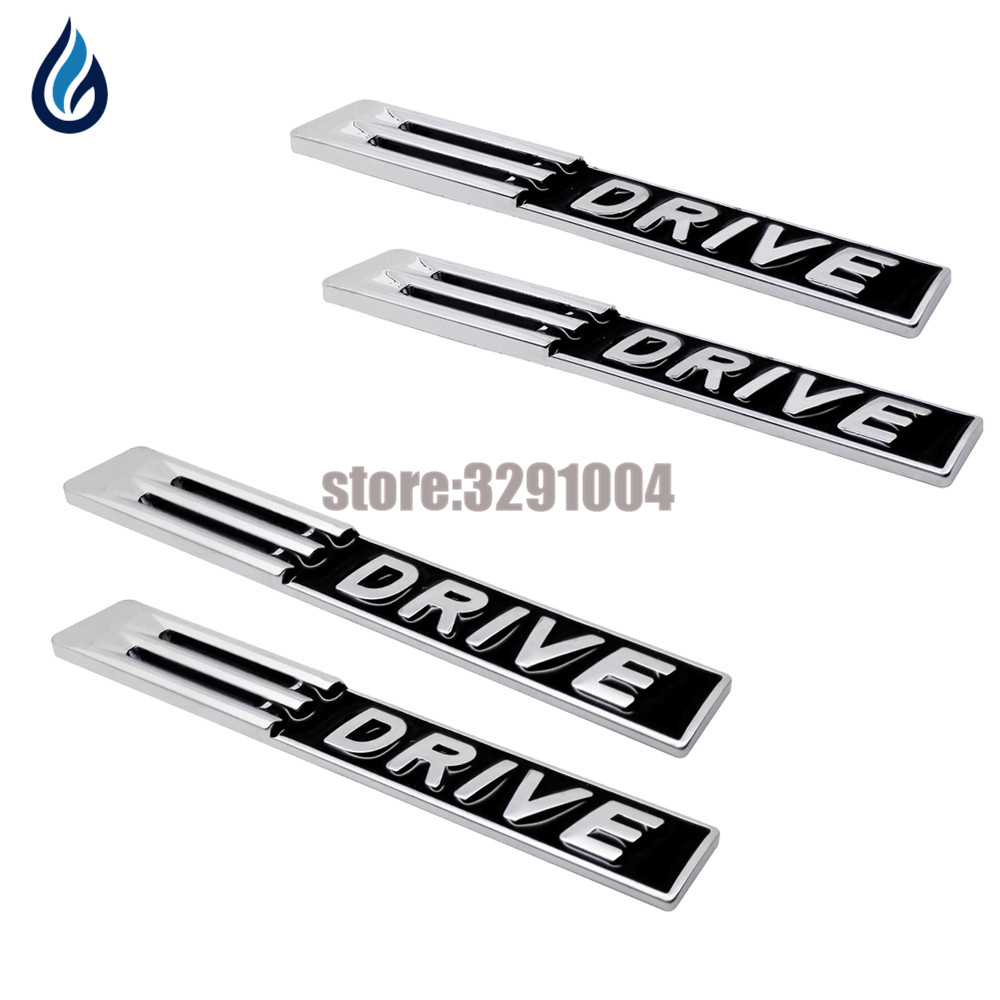 3D Metal Car Stickes E <font><b>DRIVE</b></font> <font><b>Emblem</b></font> Badge Trunk Decoration Decals For <font><b>BMW</b></font> F15 E53 E70 X5 E46 E39 E90 E60 E36 F30 F10 E34 E30 F20 image
