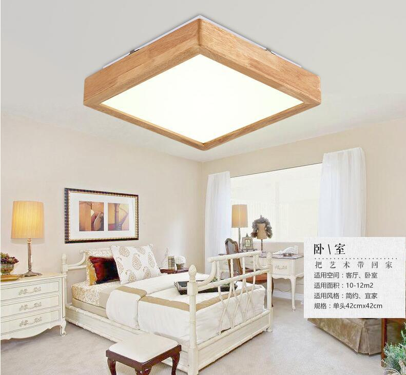 Nordic Japanese style solid wood tatami led ceiling light bedroom lights living room