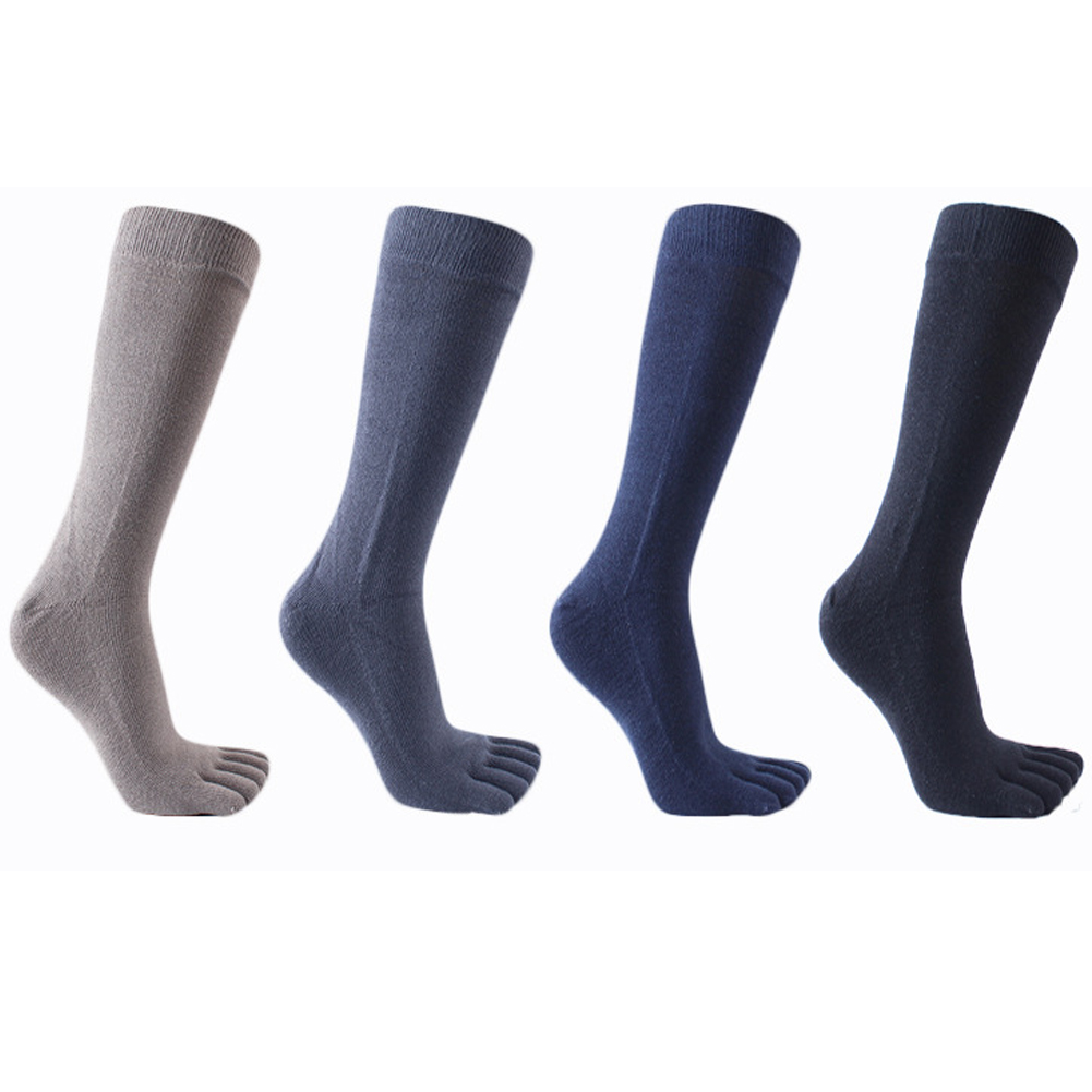 2018 Meias Men Women'S Socks Business Dress Five Finger Toe Socks High Ankle Cotton Breath Long Sox High Quality Sokken