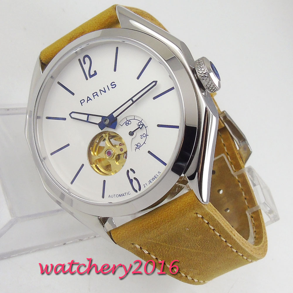 Parnis 43mm Mechanical Watches Sapphire Crystal Man Watch 2018 Diver Watch Automatic relogio masculino White Dial Luxury WatchParnis 43mm Mechanical Watches Sapphire Crystal Man Watch 2018 Diver Watch Automatic relogio masculino White Dial Luxury Watch