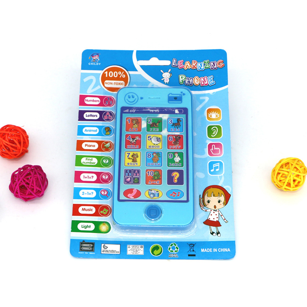 hot sale children Kids educational simulationp Phone music russian language mobile phone toy latest version of Baby phone toy