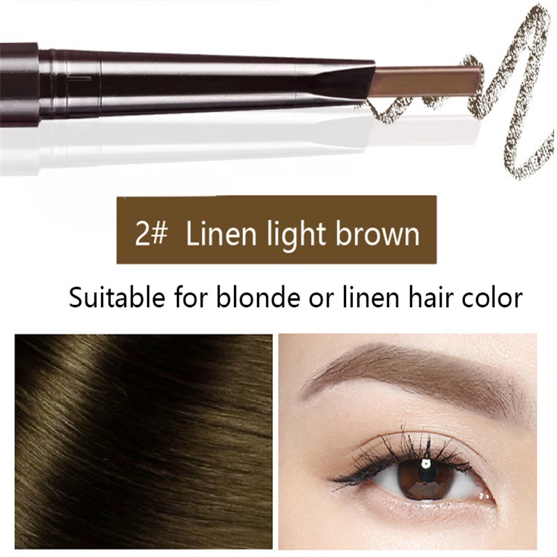 Hot Sale Eyebrow Automatic Tattoo Pen Waterproof Eye Makeup 5colors Easy Use Eyebrow Pencil Eyebrow #01 natural cool black 3