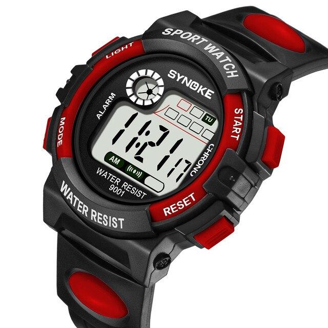 SYNOKE Famous Luxury Brand Mens Sport Watch Multi-Function 50M Waterproof Watch