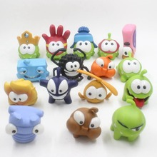 Random Pick 10 Different Rope Frog Games Doll Cut The Rope OM NOM Candy Gulping Monster Toy Action Figure Childs Toys Gift