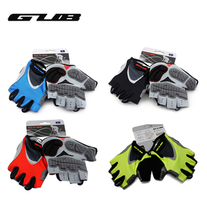 GUB Endurance Cycling Gloves Bicycle Bike Fingerless Gloves Silicone Half Finger Extra Gel Gloves Double Gel-Vent Padding