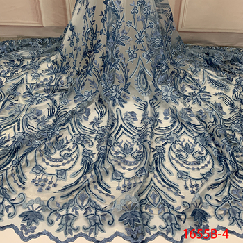 Chiffon Lace Fabric Fashion African Lace Fabric High Quality French Nigerian Lace For African party dress 1655b