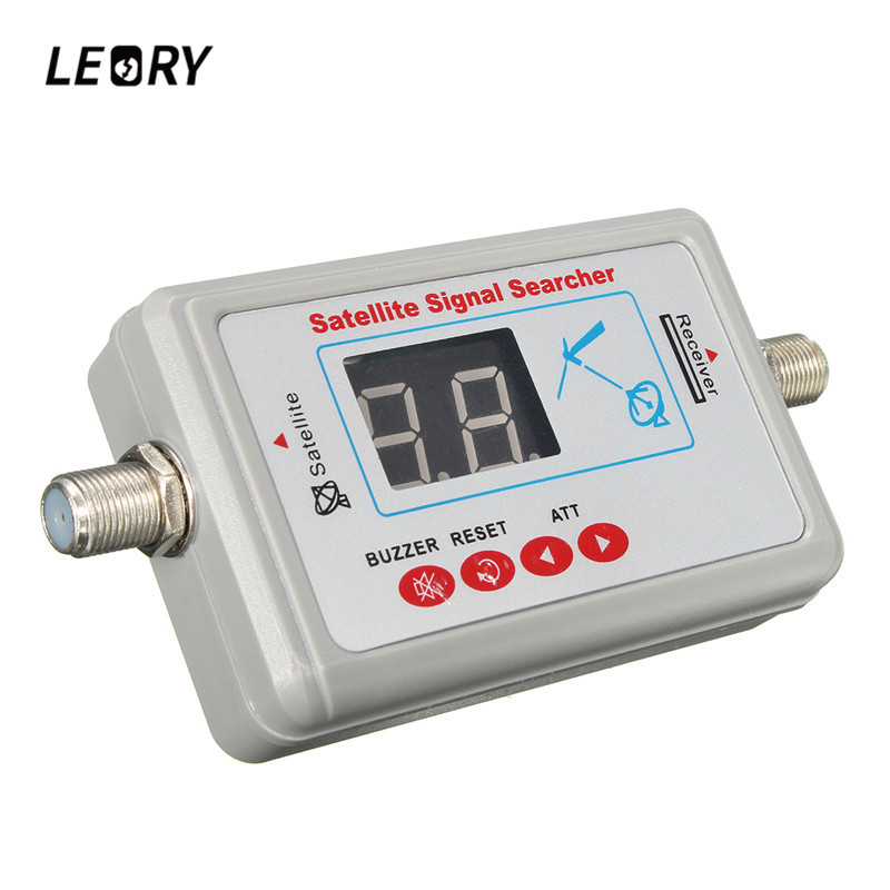 LEORY LCD DVB-T SF-95DL Mini Digital TV Antenna Satellite Signal Finder Meter SATLink TV Signal Searcher Tool