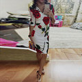 2016 Vestidos De Fiesta Maxi Dress Sexy & Club Bud Aliexpress Ebay2016 Hot New Europe Rose Slim Deep V Collar Dress Printing