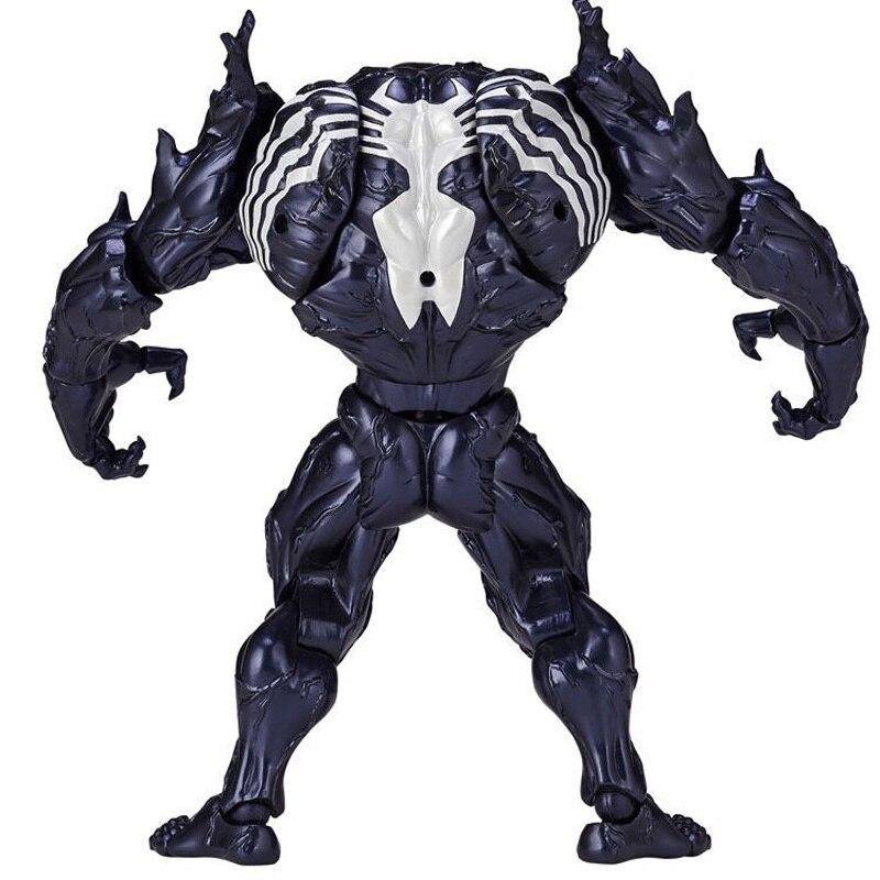 2019 brand new 15CM Series Revoltech Venom Spiderman Deadpool With Bracket PVC Action Figure Collection Model Toy 15cm Doll revoltech venom