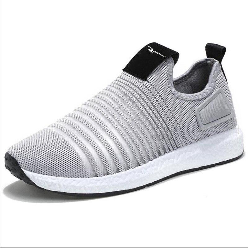 Huecos Tejido azul gris Y Zapatos Casuales Hombres Verano Deporte Zapatillas Negro 2019 De Transpirables Nuevo Los Costura Vuelo Primavera vf4wqxqFg