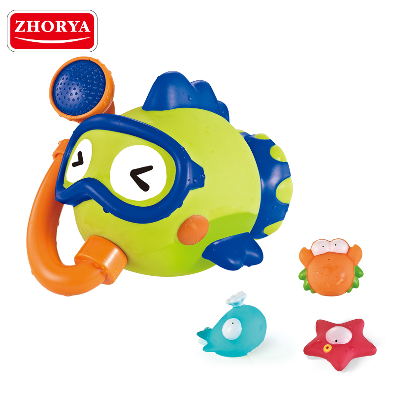 Zhorya toys both Toys 4pcs/set Cute Cartoon Animal Baby Infant Bathroom Play Water Classic Toys for kids bathing toys