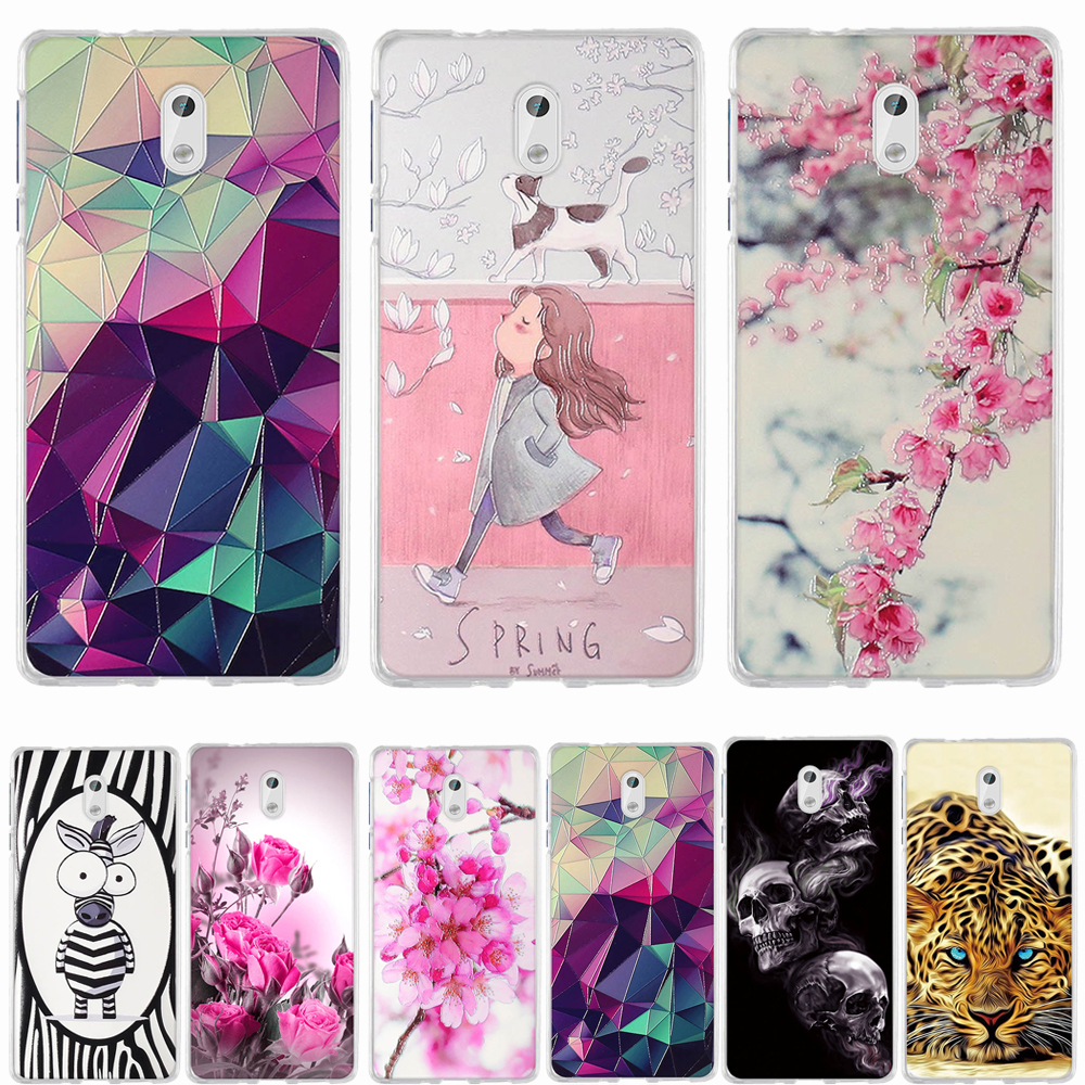 Phone <font><b>Case</b></font> For <font><b>Nokia</b></font> <font><b>3</b></font> <font><b>Case</b></font> Cover Coque For <font><b>Nokia</b></font> <font><b>3</b></font> <font><b>Case</b></font> Silicone Soft TPU Funda For <font><b>Nokia</b></font> <font><b>3</b></font> Daul TA-<font><b>1032</b></font> TA-1020 Back Cover image