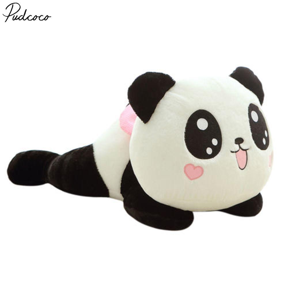 Quality Lying Down Cute PANDA BEAR Stuffed Animal Plush Soft Toy Cute Doll Gift