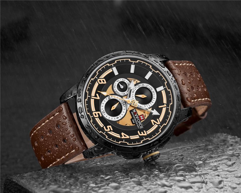 NAVIFORCE 9142 Genuine Leather Watch 9