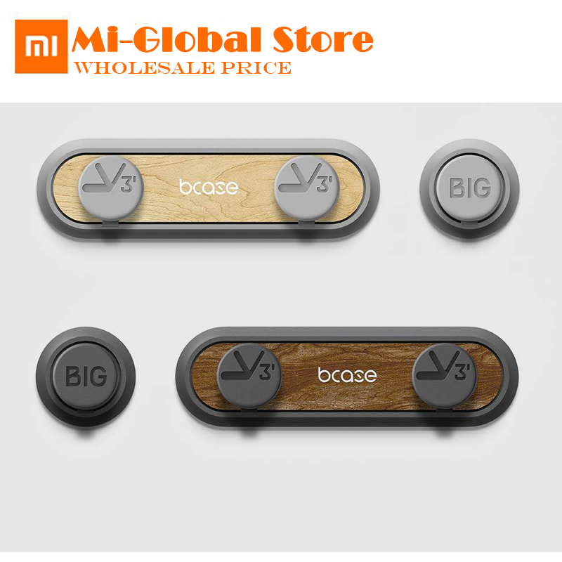 все цены на New Original XiaoMi TUP2 Magnetic Absorption Cable Clip High compatibility Practical magnetic base Wood texture for smart life онлайн