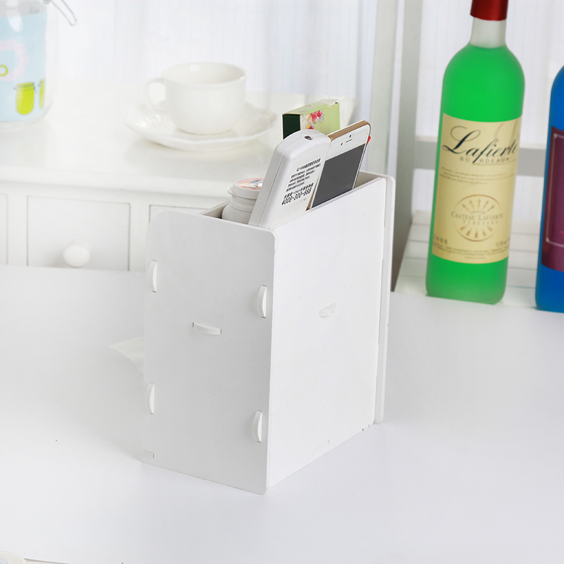 DIY Multifunction Office Desktop Tissue Storage Box Car Grocery Mobile  Phone Key Container Store Cartridges Hot Sale!!  In Tissue Boxes From Home  U0026 Garden ...
