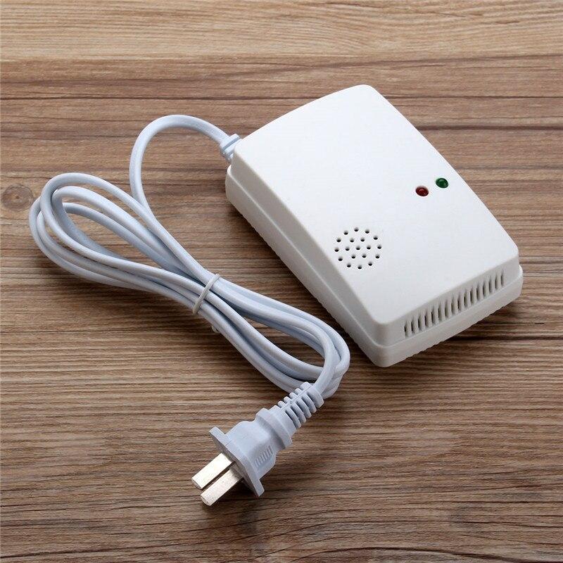 Nueva alarma de Gas Combustible independiente LPG GNL Sensor de Detector de fugas de Gas Natural para seguridad en el hogar