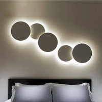 Phube Lighting Modern LED Wall Lamp Blue Pink White Black Grey Wooden Wall Lamp Combination Wall Light Sconce Free Shipping !