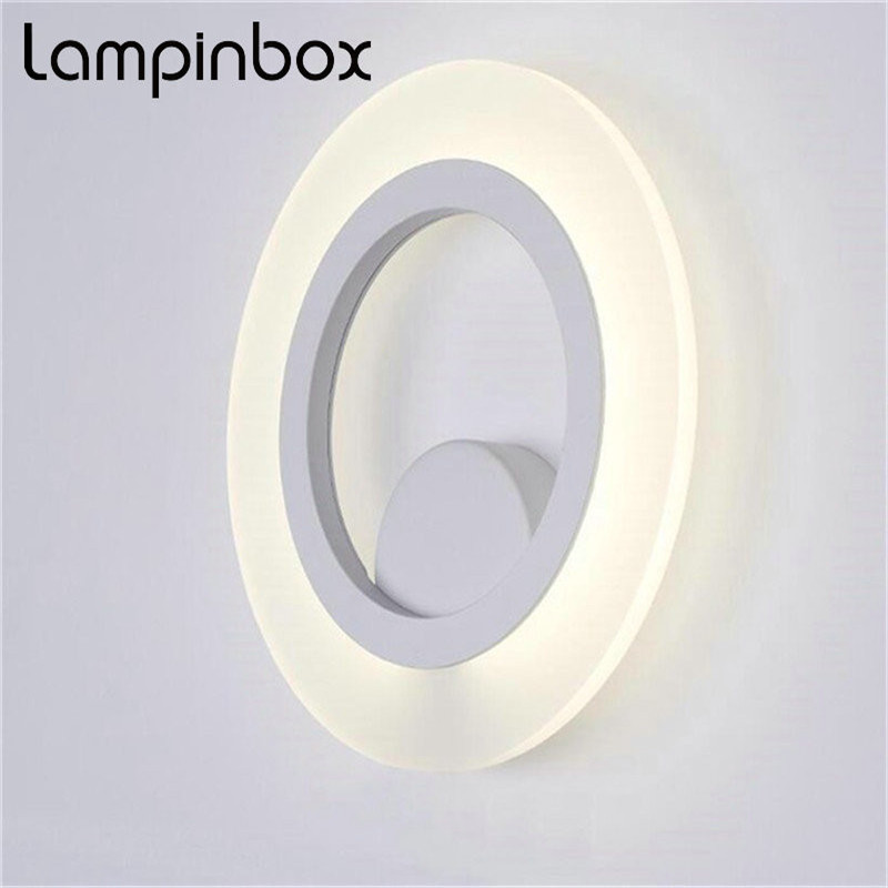 Able Led Wall Lamp Headboard Lamp Acrylic Shade Bedside Lamp Indoor Background Wall Sconce Ac85-265v Lp81 Led Lamps