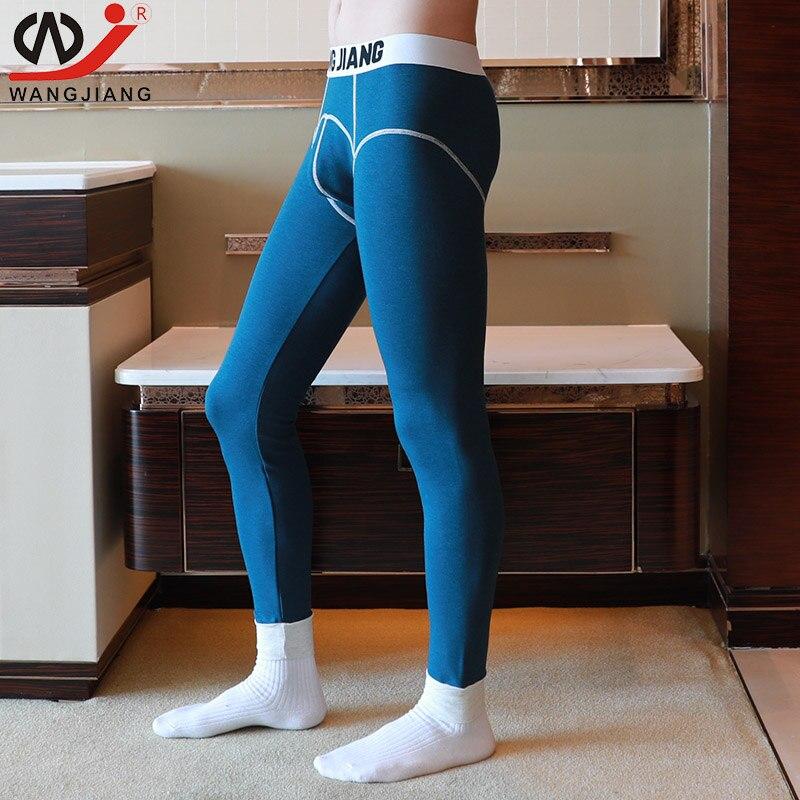 100% Kwaliteit Sexy Thermisch Ondergoed Winter Warme Broek Mannen Lange Onderbroek Katoen Gedrukt Leggings Spandex Panty's En Leggings Kleding Voor Mannen Firm In Structuur